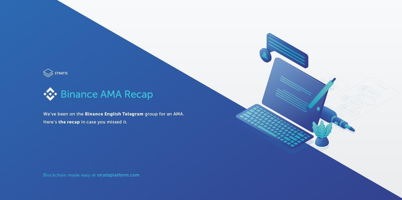 Stratis AMA on Binance Telegram with Chris Trew