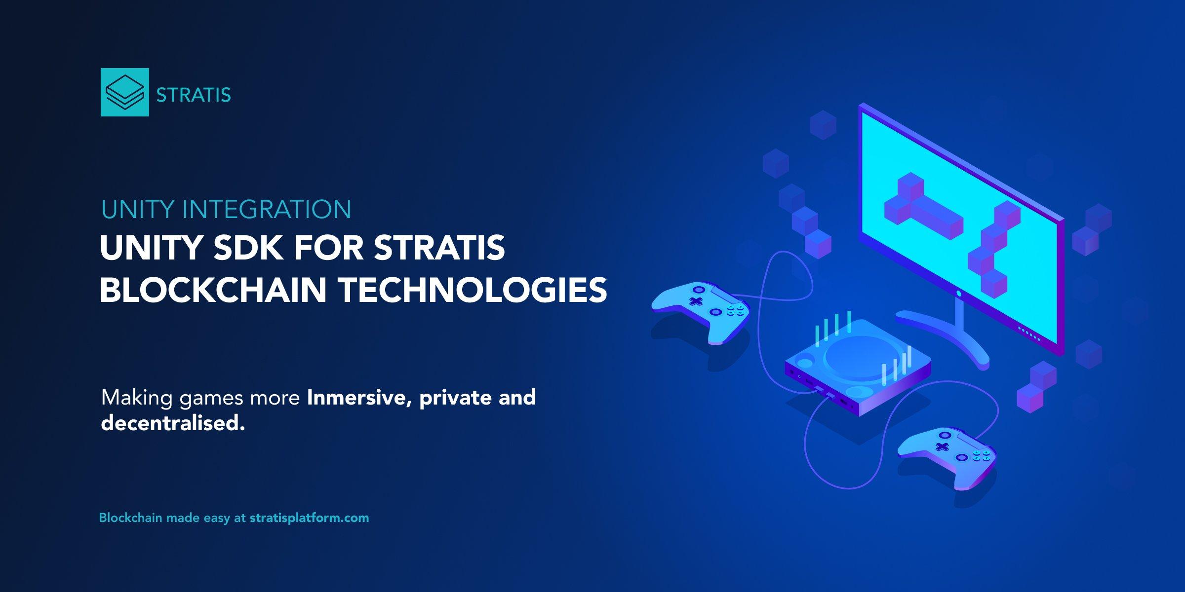 Unity SDK for Stratis Blockchain Technologies
