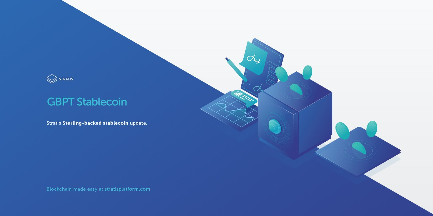 Stratis Sterling Backed Stable Coin Update
