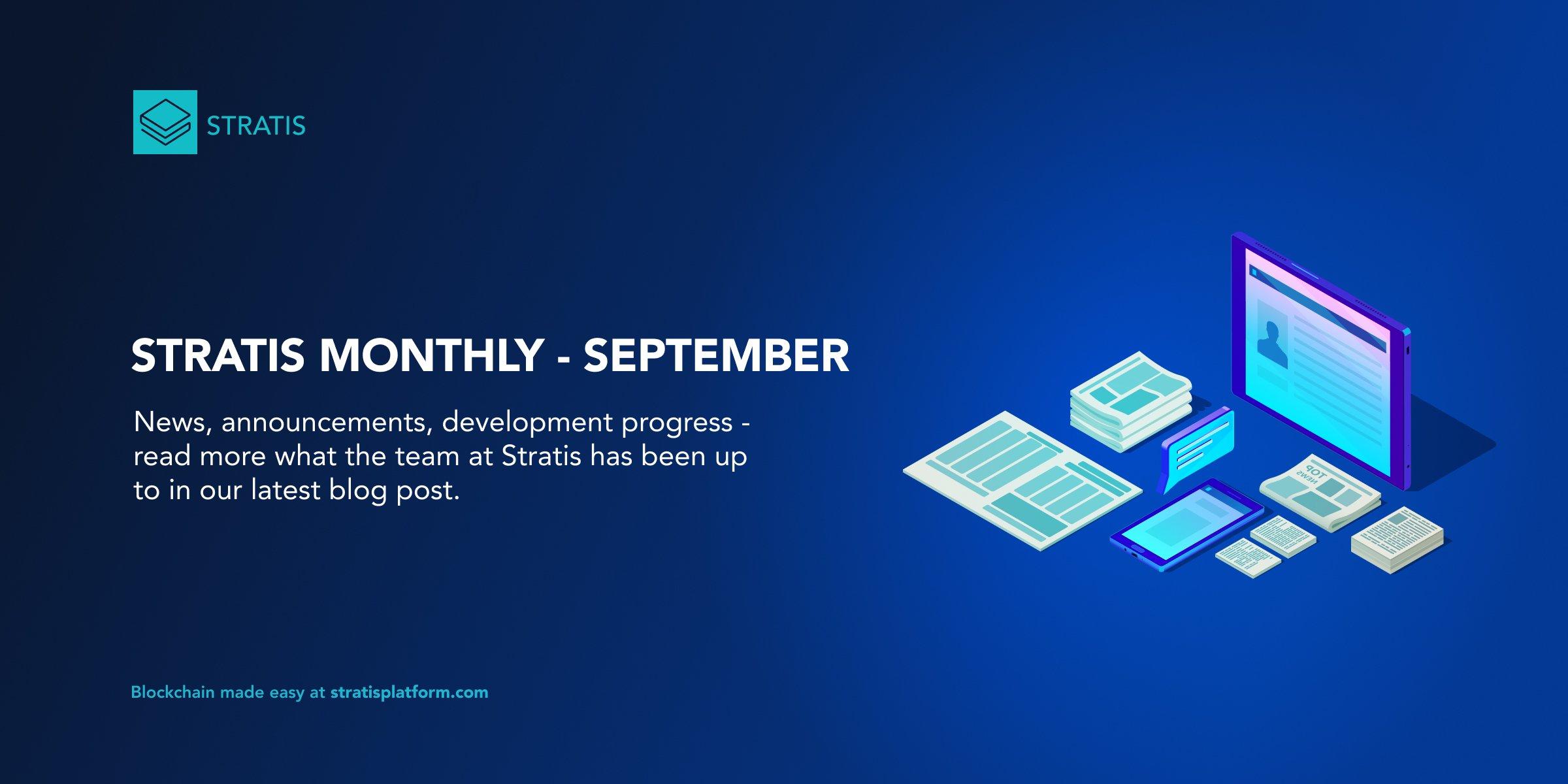Stratis Monthly – September