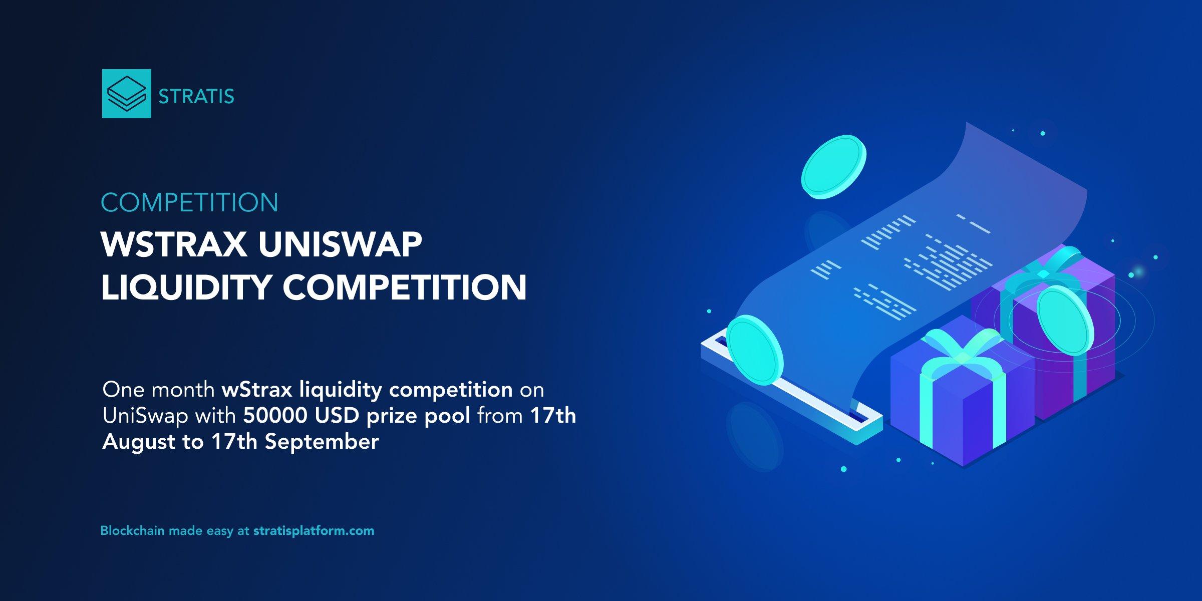wSTRAX UniSwap Liquidity Competition
